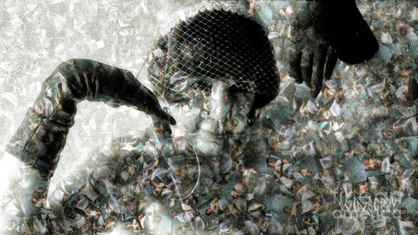 Digital Art - Cp In Black Gloves by Bob Winberry