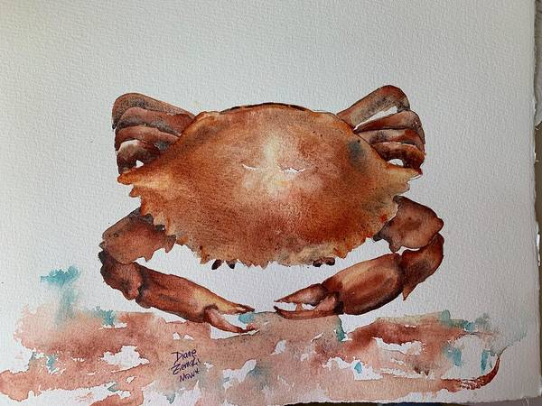 Painting - Crab To Eat by Diane Ziemski