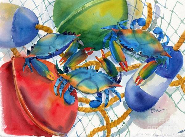 Sealife Painting - Crabs And Floats by Paul Brent