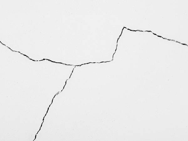 Cracked Photograph - Crack In Plaster Wall, Close-up by Michael Betts