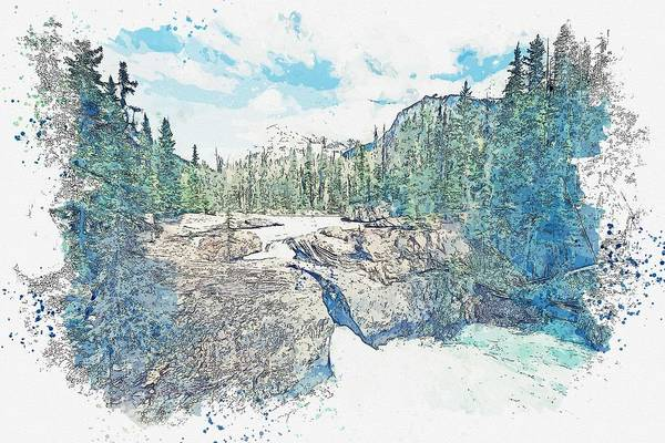 Painting - Cracked Rock -  Watercolor By Adam Asar by Celestial Images