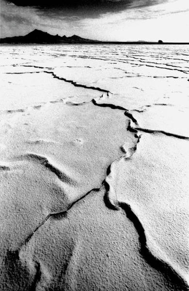 Cracked Photograph - Cracked Salt Plains Of The Bonnecville by John Coletti