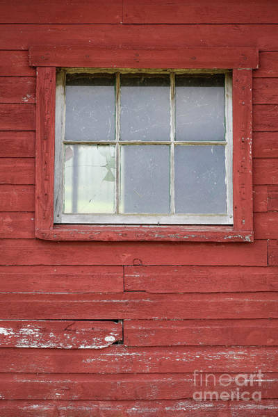 Wall Art - Photograph - Cracked Window Red Barn by Edward Fielding