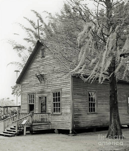 Photograph - Cracker Church 1900s Bw by D Hackett