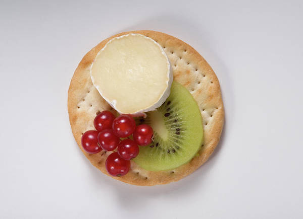 Cracker Photograph - Cracker_slice Of Brie_kiwi And Berries by Thomas Firak Photography