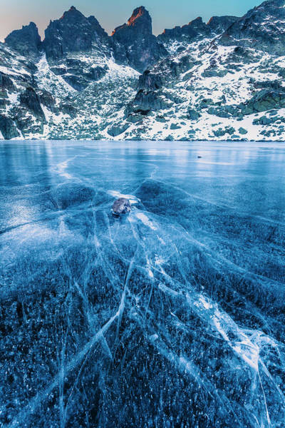 Photograph - Cracks In The Ice by Evgeni Dinev