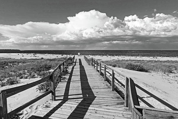 Photograph - Crane Beach Footbridge Ipswich Ma Black And White by Toby McGuire