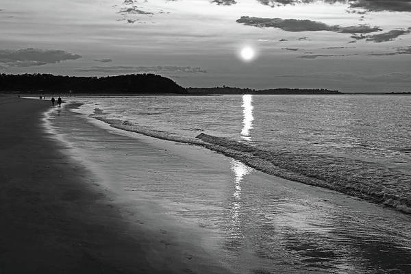 Photograph - Crane Beach Sunset Ipswich Ma Black And White by Toby McGuire