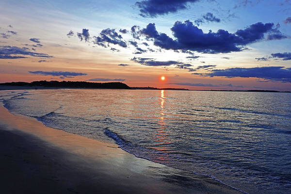 Photograph - Crane Beach Sunset Ipswich Ma Blue Clouds by Toby McGuire