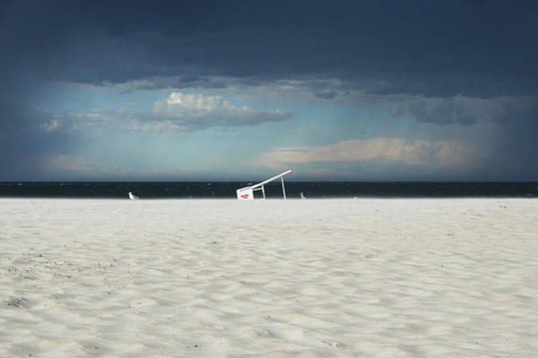 Photograph - Crane Beach Tipped Lifeguard Chair Ipswich Ma by Toby McGuire