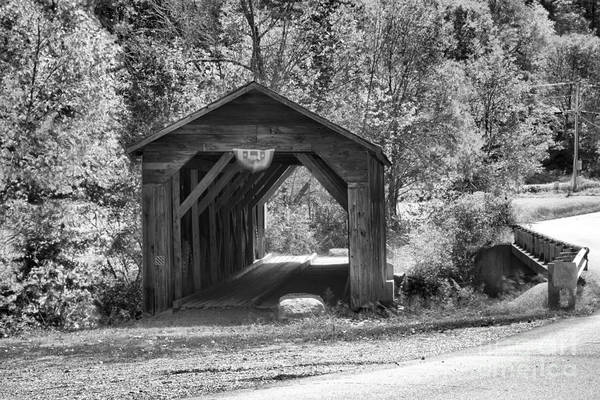 Photograph - Crane Brook Road Re-route Black And White by Adam Jewell