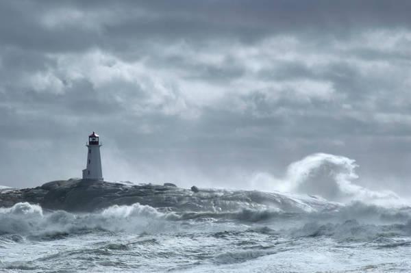 Wall Art - Photograph - Crashing Wave Lighthouse by Shayes17