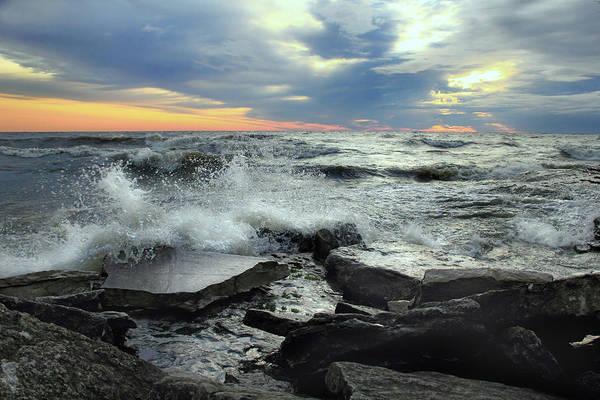Photograph - Crashing Waves by Angela Murdock