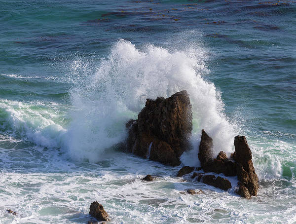 Del Photograph - Crashing Waves by Larry Marshall