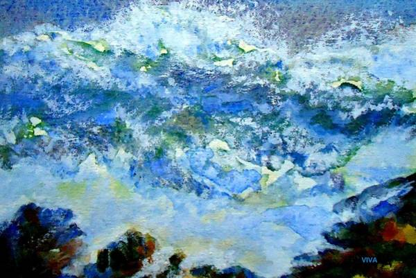 Painting - Crashing Waves by VIVA Anderson