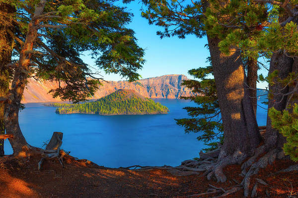 Photograph - Crater Lake Early Dawn Scenic Views Ix by Dee Browning
