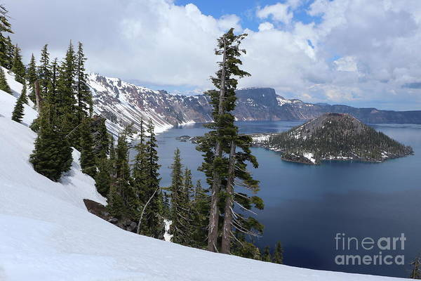 Wall Art - Photograph - Crater Lake Snow Scape  by Christiane Schulze Art And Photography