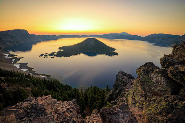 Wall Art - Photograph - Crater Lake Sunrise by Johnny Adolphson