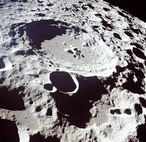 Volcanic Craters Photograph - Craters In Moon Surface, Far Side by Kevin Kelley