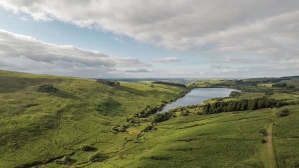 Photograph - Cray Reservoir Wales Uk By Drone  by John McGraw