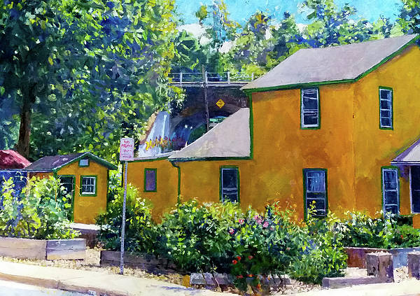 Wall Art - Painting - Crayola House, Charlottesville by Edward Thomas