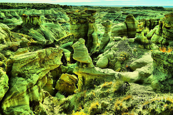 Middle Of Nowhere Photograph - Crazy Bisti Badlands Rock Formation by Jeff Swan