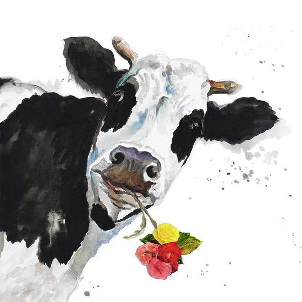 Crazy Painting - Crazy Cow by Patricia Pinto