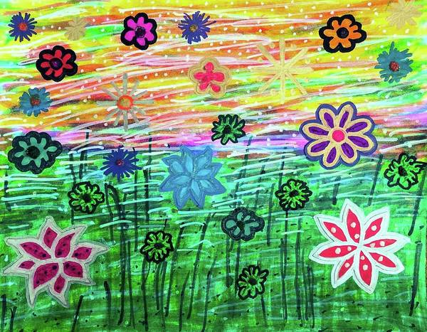Painting - Crazy Days Of Summer by Susan Schanerman