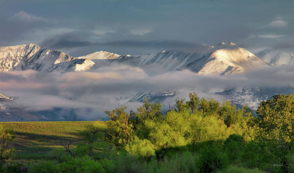Wall Art - Photograph - Crazy Mountains Clearing Storm by Leland D Howard