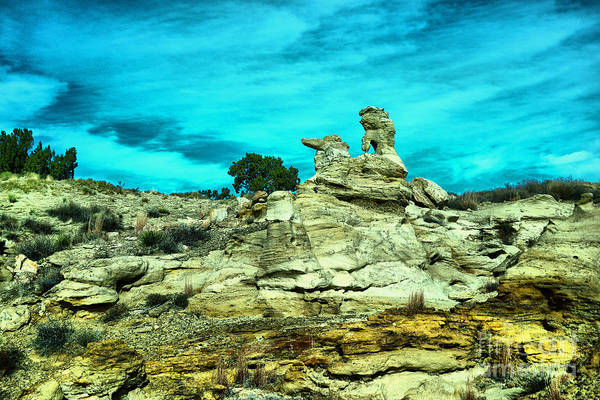 Land Of Enchantment Photograph - Crazy Rock Formations In New Mexico by Jeff Swan