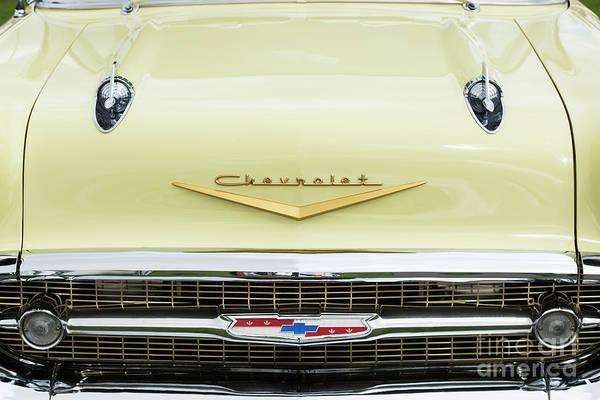 Wall Art - Photograph - Cream 1957 Chevrolet by Tim Gainey