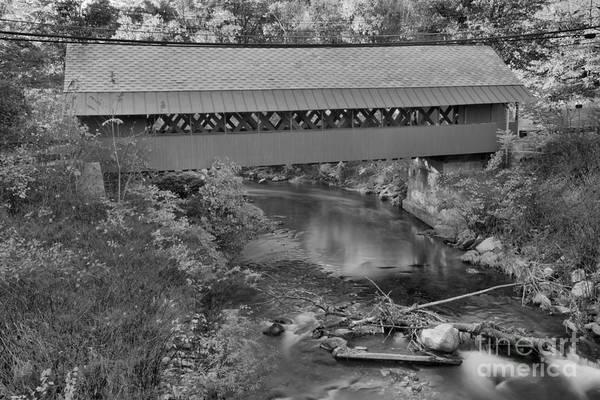 Photograph - Creamery Bridge Crossing Black And White by Adam Jewell