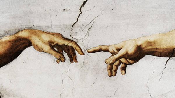 Painting - Creation Of Adam - Michelangelo by Weston Westmoreland