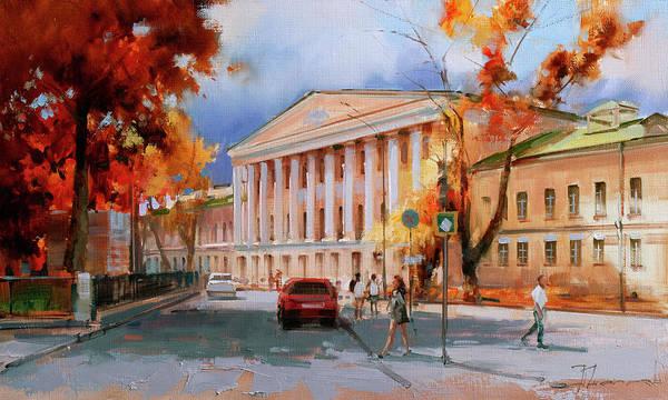 Boulevard Painting - Creation Of M.v. Kazakov. Strastnoy Boulevard. by Alexey Shalaev