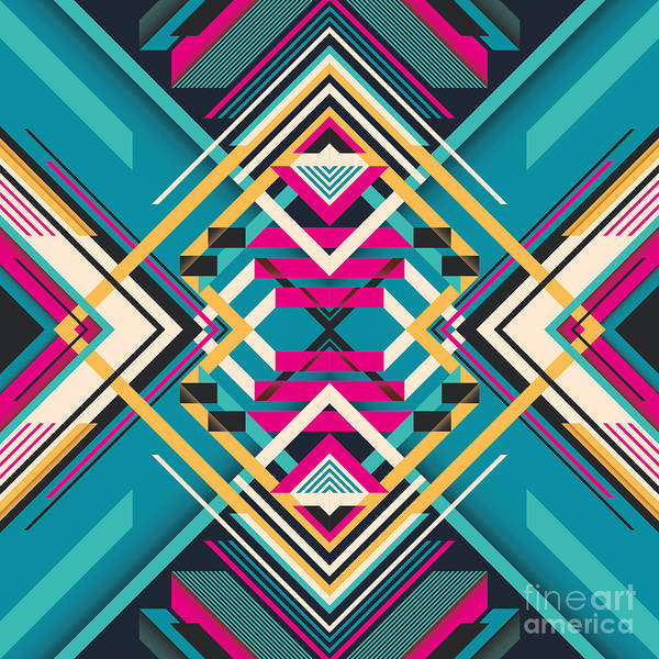 Wall Art - Digital Art - Creative Abstract Composition. Vector by Radoman Durkovic