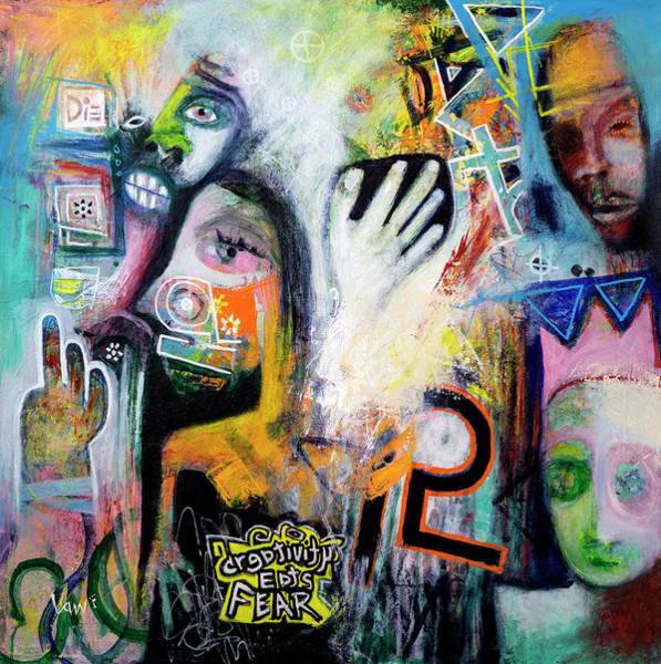 Painting - Creativity Eats Fear by Ken Law