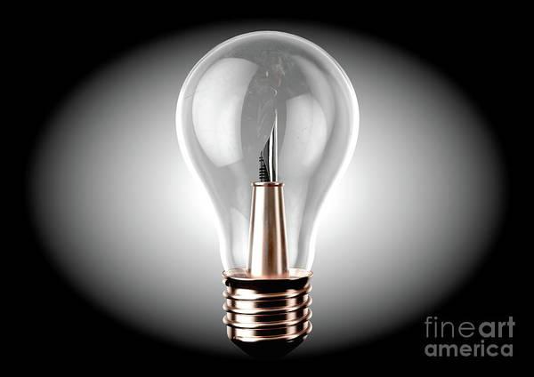 Wall Art - Digital Art - Creativity Light Bulb Concept by Allan Swart