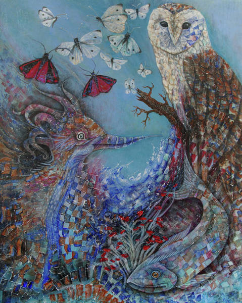 Cabbage White Painting - Creature Cove by Adria Trail