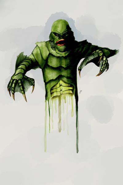 Horror Movie Digital Art - Creature From The Black Lagoon by Gary Cadima