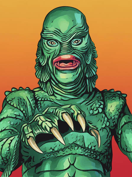 Digital Art - Creature From The Black Lagoon by Zapista Zapista