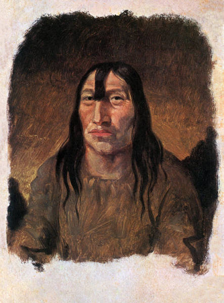 Wall Art - Painting - Cree Indian Warrior, Fort Carlton by Science Source
