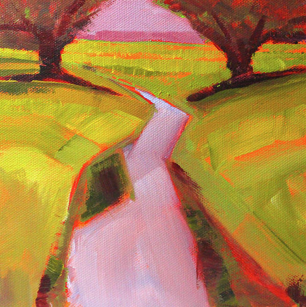 Semi Abstract Painting - Creek Bed by Nancy Merkle