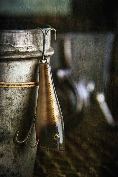 Tin Box Photograph - Creek Chub Plunker by Cindi Ressler