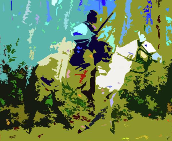 Wall Art - Digital Art - Creek Horse Warrior by David Lee Thompson