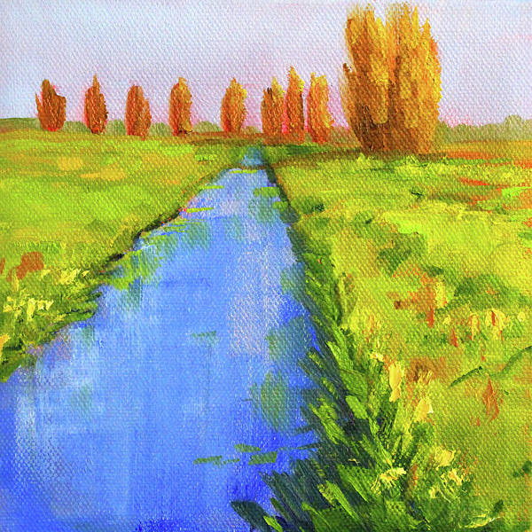 Wall Art - Painting - Creek Side Landscape  by Nancy Merkle
