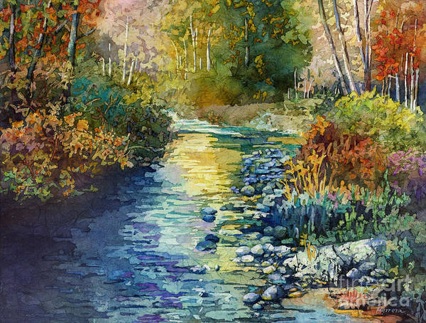 Fresh Painting - Creekside Tranquility by Hailey E Herrera