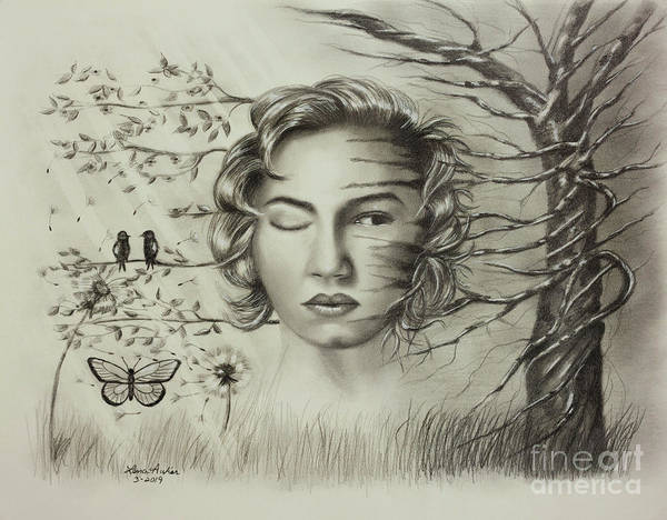 Wall Art - Drawing - Creeping In by Lena Auxier