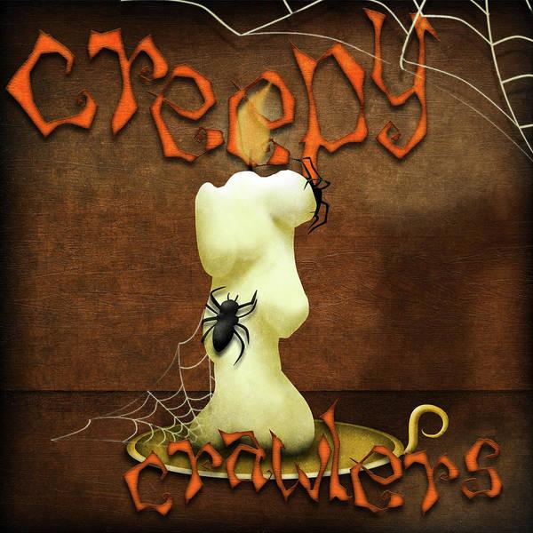 Candles Digital Art - Creepy Crawlers I by Sd Graphics Studio