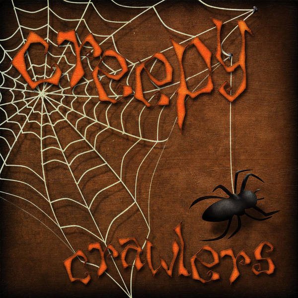 Spider Digital Art - Creepy Crawlers II by Sd Graphics Studio