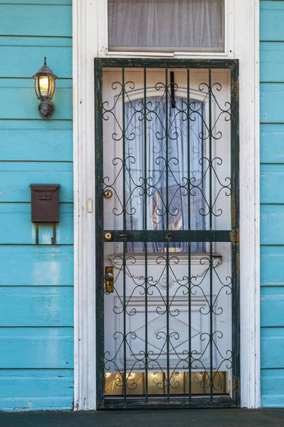 Louisiana Photograph - Creole House Door, French Quarter, New by Juan Silva